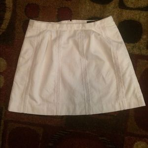 J.Crew White Lined Skirt with Pockets